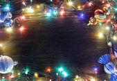 Marco de luces de navidad — Foto de Stock