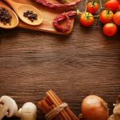Spices and vegetables in anticipation of cooking  — Stock Photo