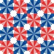 Red, white and blue stars and stripes in a festive seamless pattern — Stock Photo #71273471