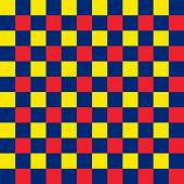 Bold blue, red and yellow seamless checkered background — Stock Photo