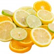 Lime, Lemon And Orange Layer Slices — Stock Photo #52368675