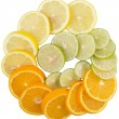 Lime, Lemon And Orange Layer Slices — Stock Photo #52368767