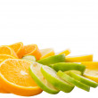 Lime, Lemon And Orange Layer Slices — Stock Photo #52368825