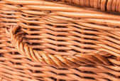 Wicker Basket Close Up View — Stockfoto