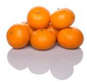 A Group Of Mandarin Orange Fruit — Stock Photo