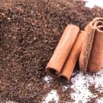 Cinnamon Stick On Dried Tea Leaves — Stock Photo #56727023