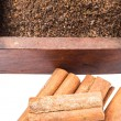 Dried Tea Leaves And Cinnamon Stick — Stock Photo #56806117
