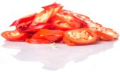 Cut Slices Of Red Chili Peppers — Stock Photo