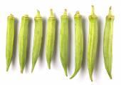 Okra Or Ladies' Fingers Vegetables — Stock Photo