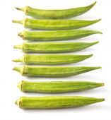 Okra Or Ladies' Fingers Vegetables — Stock Photo
