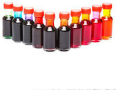 Various Colors Of Food Color Additives — Foto Stock