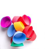Silicone cupcake  baking cups — Stock Photo