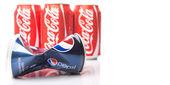 Pepsi and Coca Cola — Stock Photo
