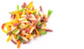 Colorful Sugar Jelly Candy Strip — Stock Photo
