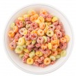 Colorful Fruit Flavored Cereal — Stock Photo #65914853