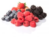 Strawberry, Blackberry, Blueberry and Raspberry — Foto de Stock