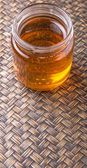 Honey In Mason Jar — Stock Photo