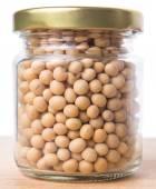 Soy Bean In Mason Jar — Stock Photo