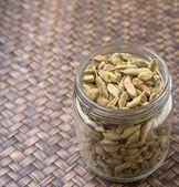 Cardamom Spices In Mason Jar — Stock Photo