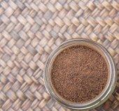 Processed Tea Leaves In Mason Jar — Stock Photo