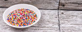 Colorful Sprinkle Cake Toppings — Stock Photo