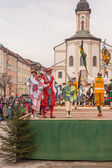 Traunstein,Germany,Bavaria, April 06th, Historical sword dance at the Georgirittes in Traunstein on the Easter Monday — Stock Photo