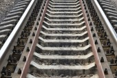 铁路轨道填充框架 — 图库照片