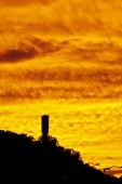 горящий желтый небо в закате — Стоковое фото