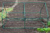 Frame mini greenhouse — Stock Photo