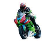 Motorcycle racer — Stok fotoğraf