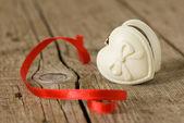 Jewelery box in heart shape — Foto de Stock