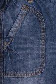 Blue jeans pocket — Stock Photo