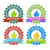 Flat Best Choice Labels — Stock Vector