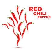 Chili peppers isolados no fundo branco. vector — Vetor de Stock
