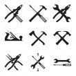 Tools icon set. — Stock Vector #58941183