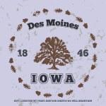 Des Moines, Iowa — Stock Vector #58941387