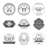 Bikers Repair Service Emblems — Stock Vector