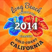 Long beach surf — Vettoriale Stock