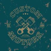 Custom motors. — Stock Vector