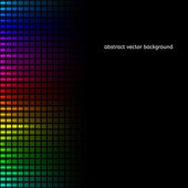 Abstract squares equalizer background. Vector — Stock Vector