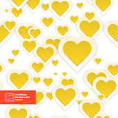 Abstract Paper Hearts Seamless Pattern. Vector — Stock Vector