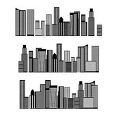Abstract City Skyline — Stock Vector