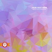 Fond abstrait de triangles colorés — Vecteur