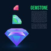 Color Gemstones set — Stock Vector