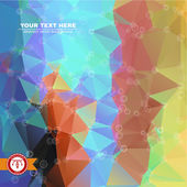 Abstract Colorful Triangles Background — Stock Vector