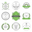 Golf labels and icons set. Vector — Stock Vector #72663441