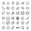 Set of Hand Draw Social Icons. Vector — Stock Vector #72663665