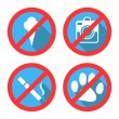 Forbidding Vector Signs No Dog or Pets, No Ice-cream — Stock Vector #72663973