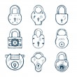 Set of different Padlocks — Stock Vector #72665163