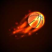 Basketball on fire. Vector — Stock Vector
